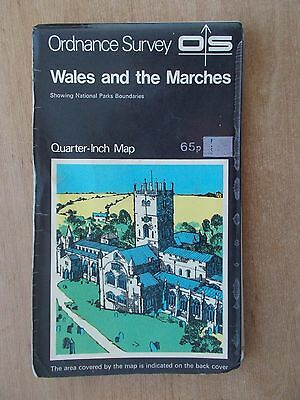 Vintage 1971 Ordnance Survey Os Tourist Sheet Map - Wales And The Marches