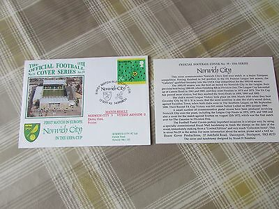 NORWICH City v VITESSE Arnhem 1993 1st Match in Europe FOOTBALL First Day Cover