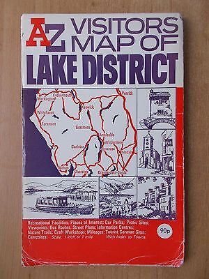 A-Z Visitors Map Of The Lake District