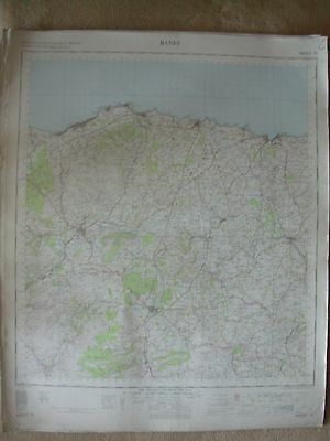 BANFF LARGE OS WALL MAP 1in LINEN BACKED 1959