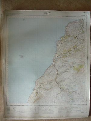 GIRVAN LARGE OS WALL MAP 1in LINEN BACKED 1955