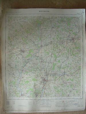 WINCHESTER LARGE OS WALL MAP 1in LINEN BACKED 1959