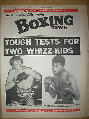 BOXING NEWS OCTOBER 27 1972 JOHN CONTEH v BILL DROVER - FIGHT PREVIEW