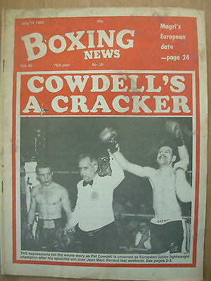 Boxing News July 13 1984 Pat Cowdell Defeats Jean Marc Renard
