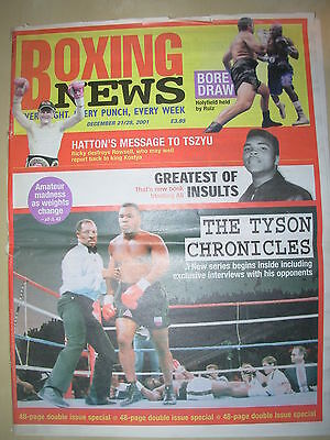 Boxing News 21 December 2001 Ricky Hatton Destroys Justin Rowsell