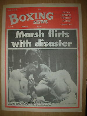 Boxing News July 10 1987 Terry Marsh Defeats Akio Kameda