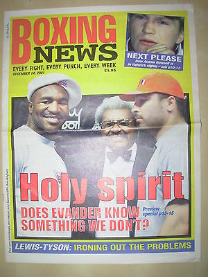 BOXING NEWS 14 DECEMBER 2001 EVANDER HOLYFIELD v JOHN RUIZ  FIGHT PREVIEW