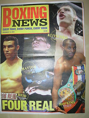 BOXING NEWS 12 DECEMBER 2003 RICKY HATTON v BEN TACKIE FIGHT PREVIEW
