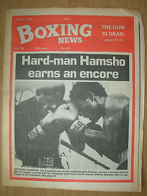 Boxing News July 22 1983 Mustafa Hamsho Defeats Wilfred Benitez