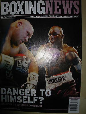 Boxing News 25 August 2006 Evander Holyfield Defeats Jeremy Bates