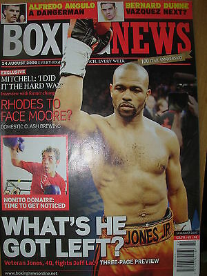 BOXING NEWS 14 AUGUST 2009 ROY JONES JNR v JEFF LACY FIGHT PREVIEW