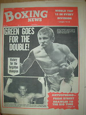 BOXING NEWS FEBRUARY 17 1978 DAVE BOY GREEN v ZOVEK BARAJAS - FIGHT PREVIEW