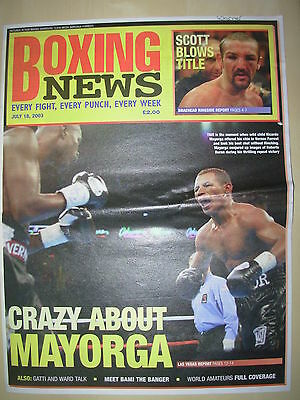 Boxing News 18 July 2003 Ricardo Mayorga Defeats Vernon Forrest