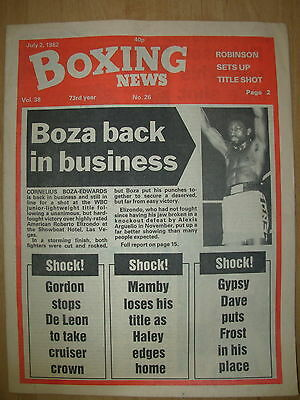 Boxing News July 2 1982 Cornelius Boza-Edwards Defeats Roberto Elizondo