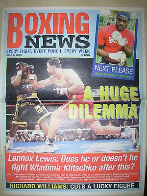 Boxing News 5 July 2002 Wladimir Klitschko Defeats Ray Mercer