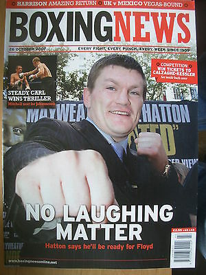 Boxing News 26 October 2007 Ricky Hatton Ready For Floyd Mayweather