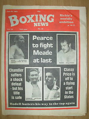 Boxing News July 29 1983 Oscar Muniz Defeats Jeff Chandler