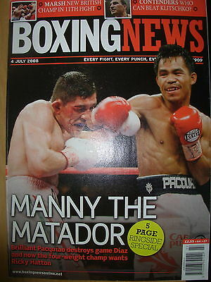 Boxing News 4 July 2008 Manny Pacquiao Defeats David Diaz
