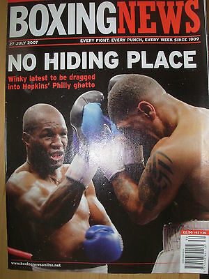 Boxing News 27 July 2007 Bernard Hopkins Defeats Ronald Wright