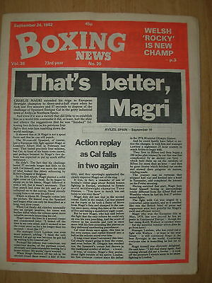 Boxing News September 24 1982 Charlie Magri Defeats Enrique Cal