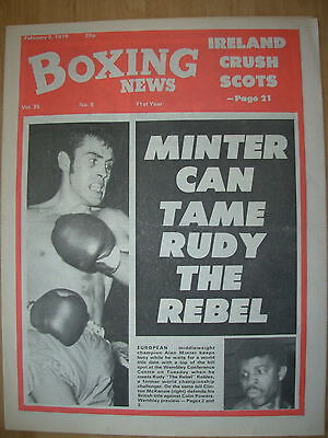BOXING NEWS FEBRUARY 2 1979 ALAN MINTER v RUDY ROBLES - FIGHT PREVIEW