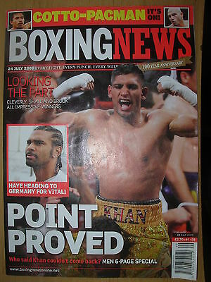 Boxing News 24 July 2009 Amir Khan Defeats Andreas Kotelnik