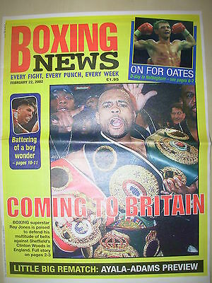 Boxing News 22 February 2002 Roy Jones To Fight Clinton Woods