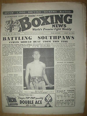 VINTAGE BOXING NEWS MAGAZINE JULY 16th 1952