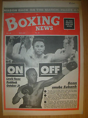 Boxing News July 10 1992 Lennox Lewis Set To Fight Razor Ruddock