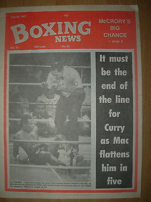 BOXING NEWS JULY 24 1987 MIKE McCALLUM DEFEATS DON CURRY