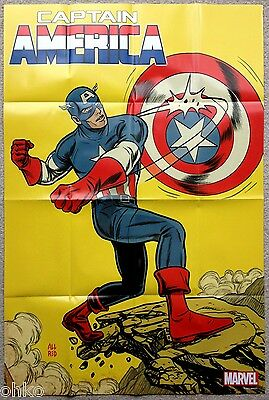 "MARVEL - CAPTAIN AMERICA FOLDED PROMO POSTER - 24"" x 36"" INCH - BRAND NEW"