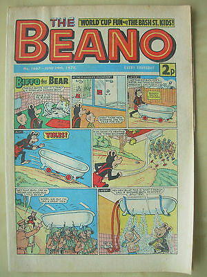 VINTAGE COMIC - THE BEANO - No 1667 - JUNE 29th 1974