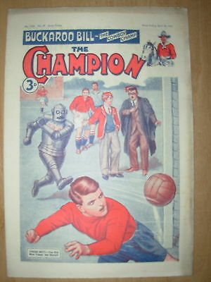VINTAGE BOYS COMIC THE CHAMPION No 1526 APRIL 28th 1951