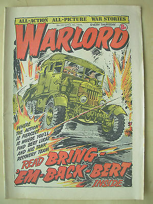 VINTAGE COMIC - WARLORD - No 237 - APRIL 7th 1979