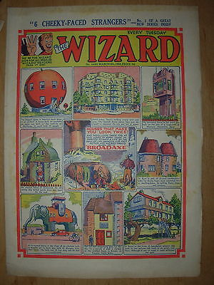 VINTAGE BOYS COMIC THE WIZARD No 1464 MARCH 6th 1954