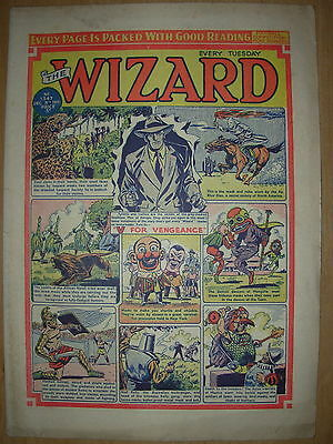 VINTAGE BOYS COMIC THE WIZARD No 1347 DECEMBER 8th 1951
