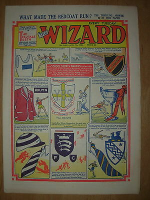 VINTAGE BOYS COMIC THE WIZARD No 1486 AUGUST 7th 1954