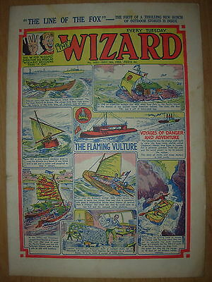 VINTAGE BOYS COMIC THE WIZARD No 1451 DECEMBER 5th 1953