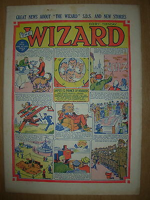 VINTAGE BOYS COMIC THE WIZARD No 1416 APRIL 4th 1953