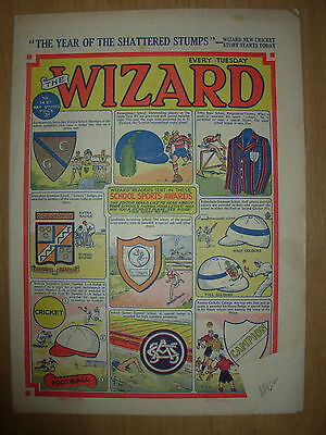 VINTAGE BOYS COMIC THE WIZARD No 1421 MAY 9th 1953