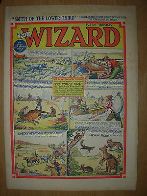 VINTAGE BOYS COMIC THE WIZARD No 1406 JANUARY 24th 1953