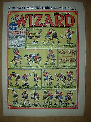 VINTAGE BOYS COMIC THE WIZARD No 1427 JUNE 20th 1953
