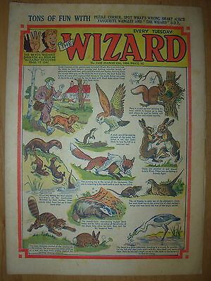 VINTAGE BOYS COMIC THE WIZARD No 1465 MARCH 13th 1954