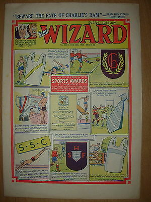 VINTAGE BOYS COMIC THE WIZARD No 1452 DECEMBER 12th 1953