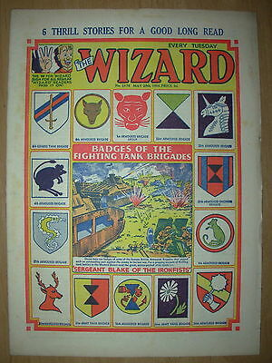 VINTAGE BOYS COMIC THE WIZARD No 1476 MAY 29th 1954