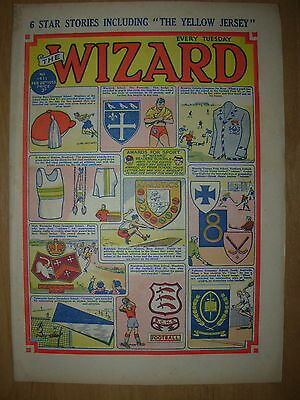 VINTAGE BOYS COMIC THE WIZARD No 1411 FEBRUARY 28th 1953