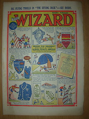 VINTAGE BOYS COMIC THE WIZARD No 1438 SEPTEMBER 5th 1953