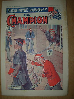 VINTAGE BOYS COMIC THE CHAMPION No 1522 MARCH 31st 1951