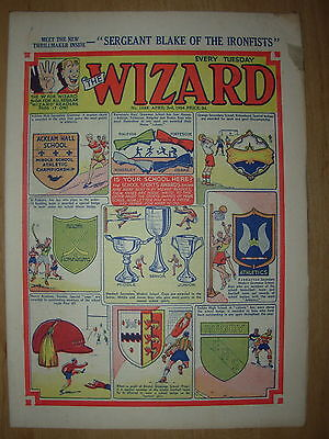 VINTAGE BOYS COMIC THE WIZARD No 1468 APRIL 3rd 1954