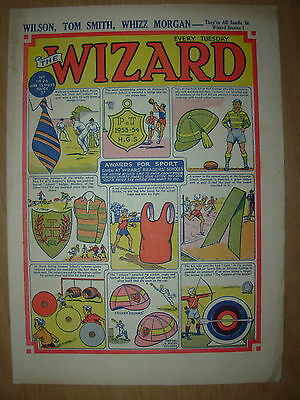 VINTAGE BOYS COMIC THE WIZARD No 1426 JUNE 13th 1953